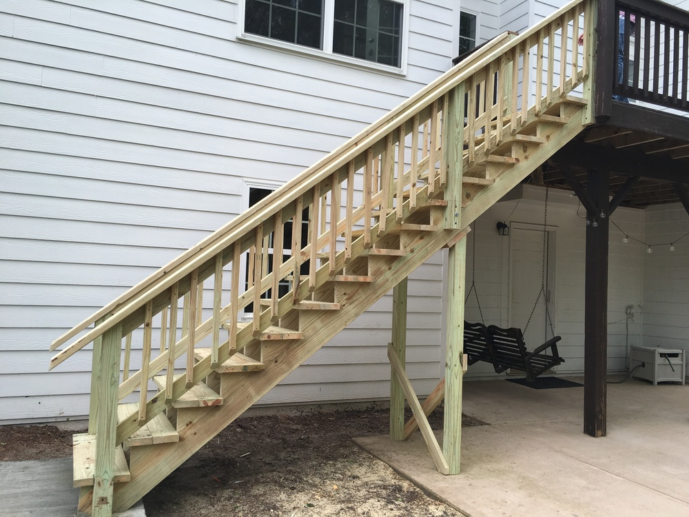 Continued new stairs