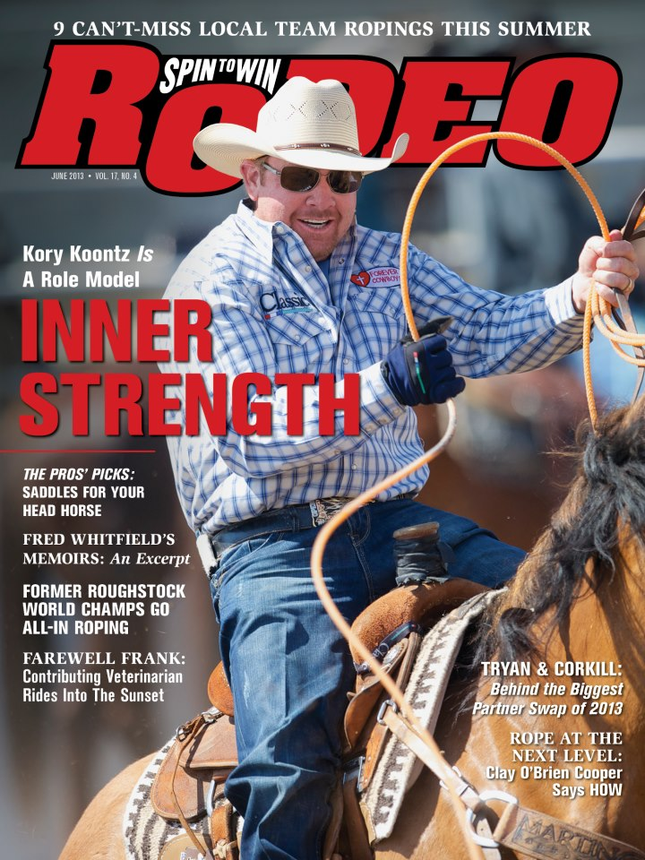 Spin to Win Rodeo - June 2013 - Kory Koontz cover