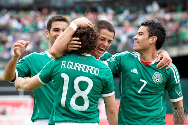 Rafael Marquez, Javier Hernandez, Pablo Barrera & Andres Guardado