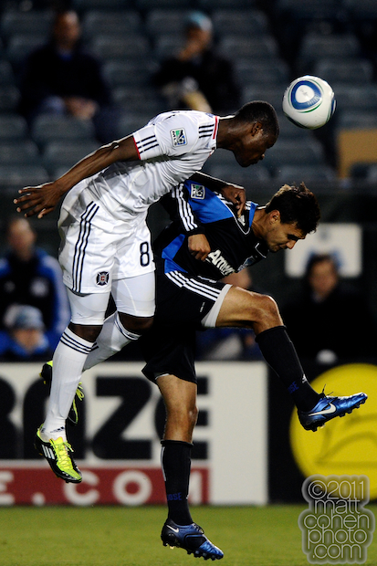 Yamith Cuesta & Chris Wondolowski - US Open Cup: Chicago Fire at San Jose Earthquakes