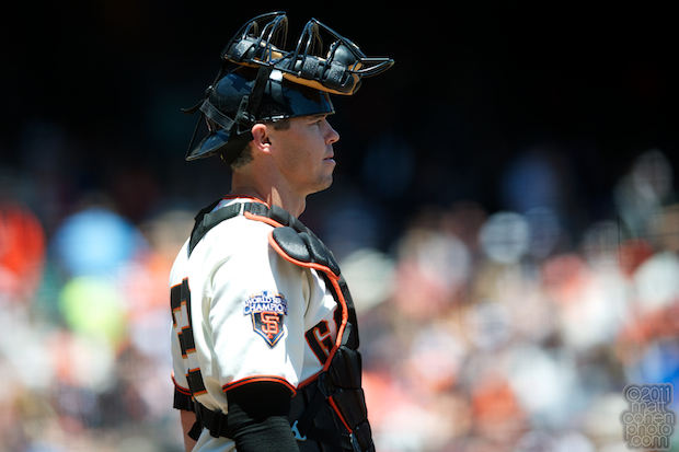 Eli Whiteside - Florida Marlins at San Francisco Giants