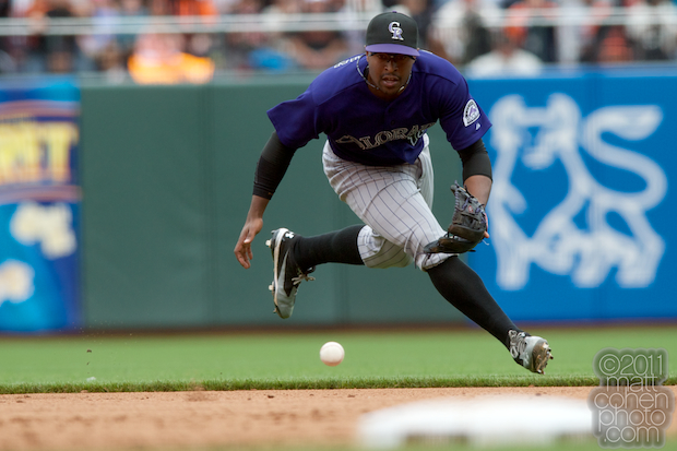 Chris Nelson - Colorado Rockies at San Francisco Giants