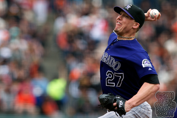 Matt Lindstrom - Colorado Rockies at San Francisco Giants