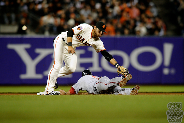 Brandon Crawford & Ian Desmond - Washington Nationals at San Francisco Giants 6-6-11