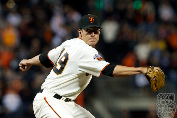 Javier Lopez - Washington Nationals at San Francisco Giants 6-6-11