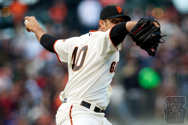 Madison Bumgarner - Cincinnati Reds at San Francisco Giants 6-9-11