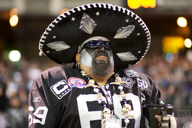Raiders fan - Arizona Cardinals at Oakland Raiders