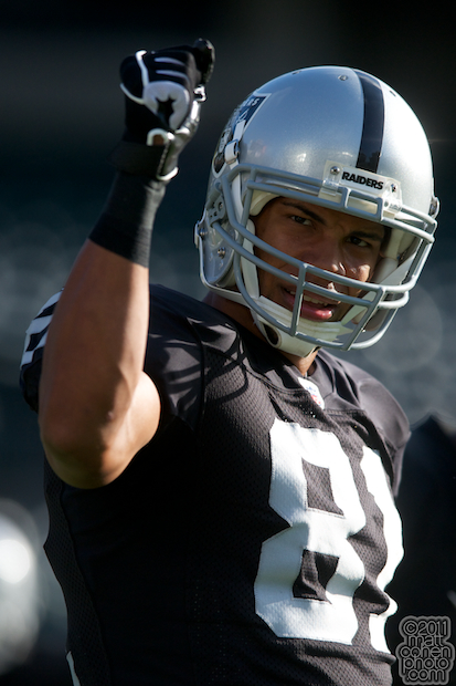 Chaz Schilens - Arizona Cardinals at Oakland Raiders