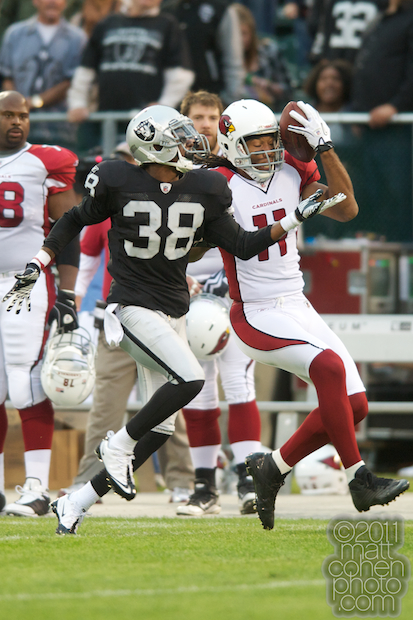DeMarcus Van Dyke & Larry Fitzgerald - Arizona Cardinals at Oakland Raiders