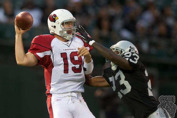 John Skelton & Jeremy Ware - Arizona Cardinals at Oakland Raiders