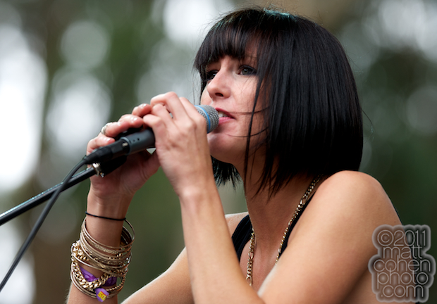 Sarah Barthel of Phantogram - Outside Lands 2011