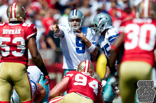 Tony Romo - Dallas Cowboys at San Francisco 49ers