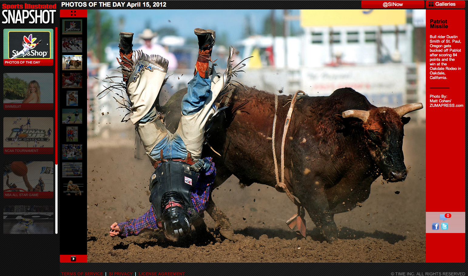 Dustin Smith Sports Illustrated Photos of the Day April 15, 2012