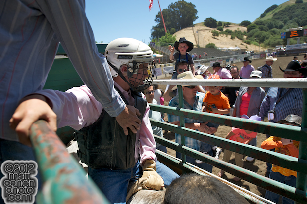2012 Rowell Ranch Rodeo - Bull riding demonstration
