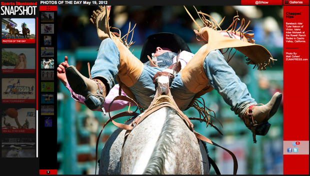 2012 Rowell Ranch Rodeo - Tyler Nelson on Mohawk. Clip from Sports Illustrated's Photos of the Day for May 19, 2012.
