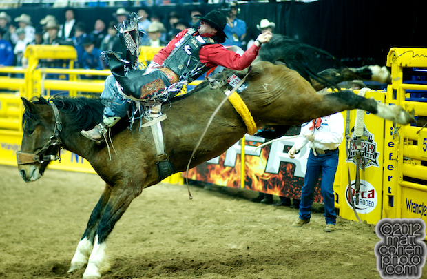 2012 Wrangler National Finals Rodeo Qualifiers: Bareback - Steven Dent