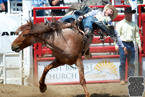 2012 Wrangler National Finals Rodeo Qualifiers: Bareback - Caleb Bennett