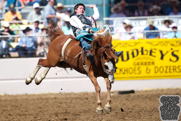 2012 Wrangler National Finals Rodeo Qualifiers: Bareback - Justin McDaniel