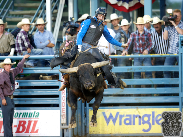 2012 Wrangler National Finals Rodeo Qualifiers: Bull Riding - Cody Teel
