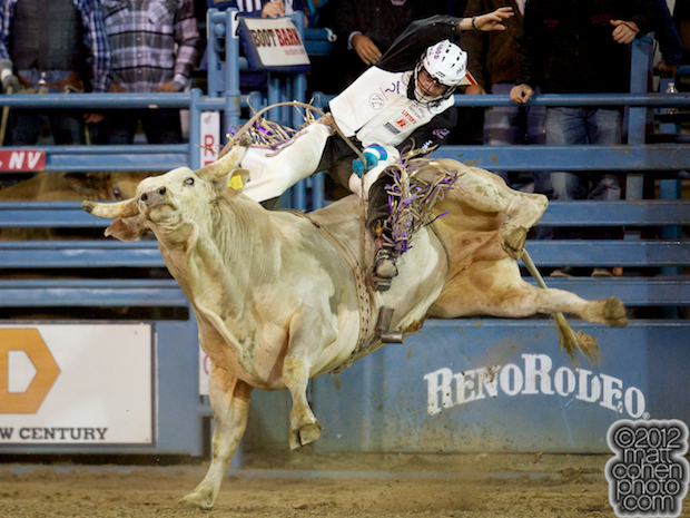 2012 Wrangler National Finals Rodeo Qualifiers: Bull Riding - Kanin Asay