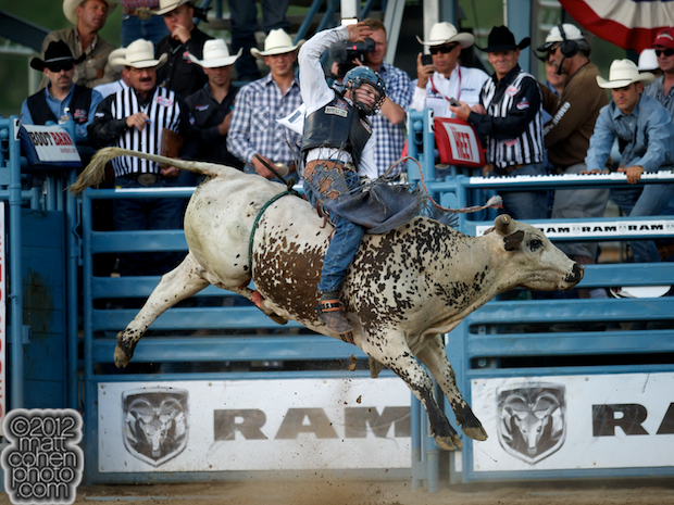 2012 Wrangler National Finals Rodeo Qualifiers: Bull Riding - Tate Stratton