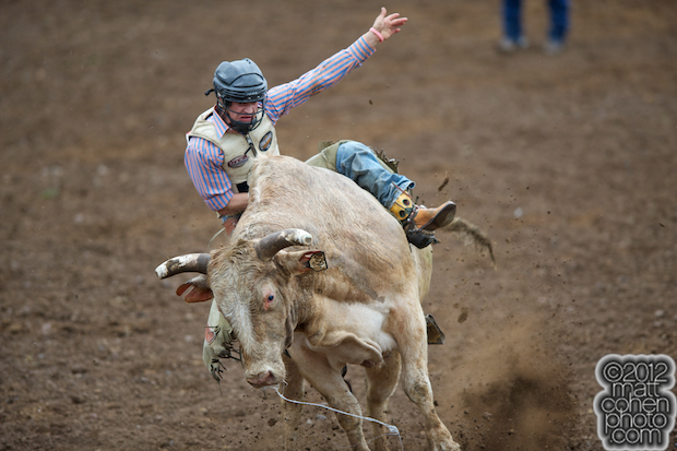 2012 Wrangler National Finals Rodeo Qualifiers: Bull Riding - Brett Stall