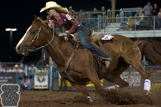 2012 Wrangler National Finals Rodeo Qualifiers: Barrel Racing - Lindsay Sears