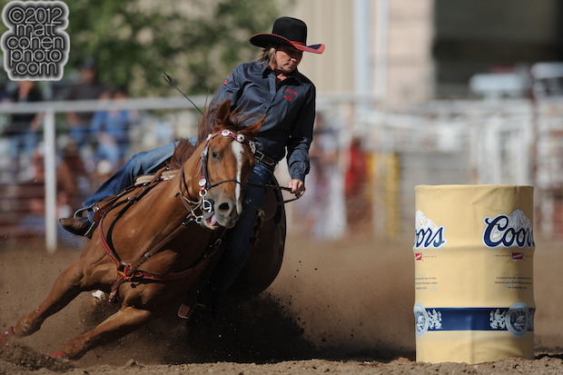 2012 Wrangler National Finals Rodeo Qualifiers: Barrel Racing - Benette Barrington-Little