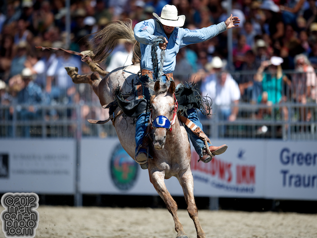2012 Wrangler National Finals Rodeo Qualifiers: Saddle Bronc - Isaac Diaz