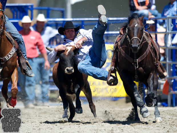 2012 Wrangler National Finals Rodeo Qualifiers: Steer Wrestling - Ethen Thouvenell