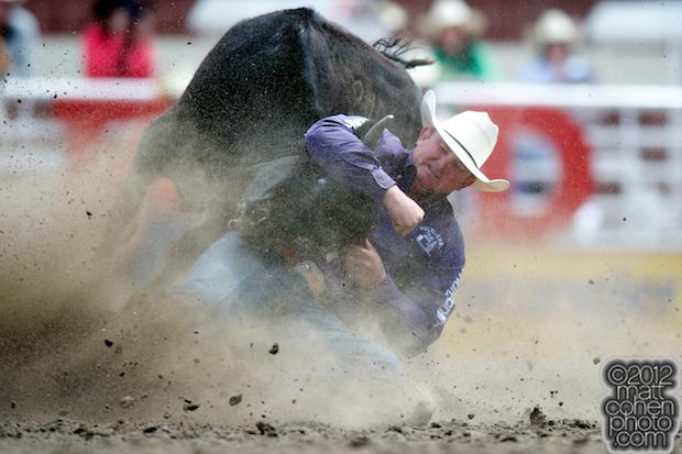 2012 Wrangler National Finals Rodeo Qualifiers: Steer Wrestling - Wade Sumpter