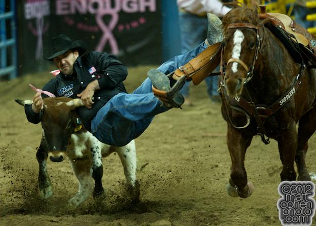 2012 Wrangler National Finals Rodeo Qualifiers: Steer Wrestling - Luke Branquinho