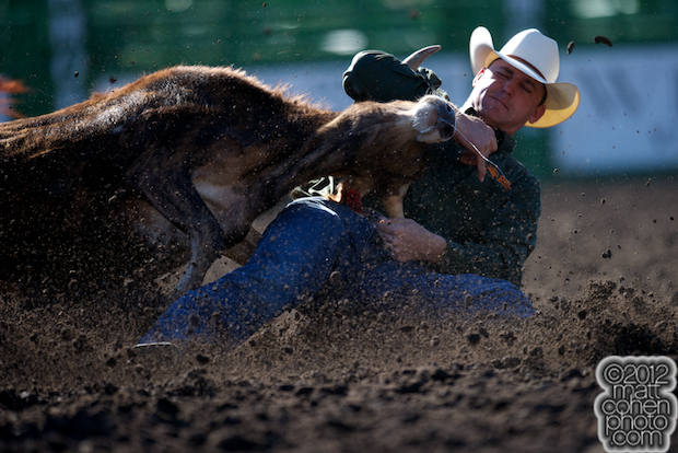 2012 Wrangler National Finals Rodeo Qualifiers: Steer Wrestling - Casey Martin