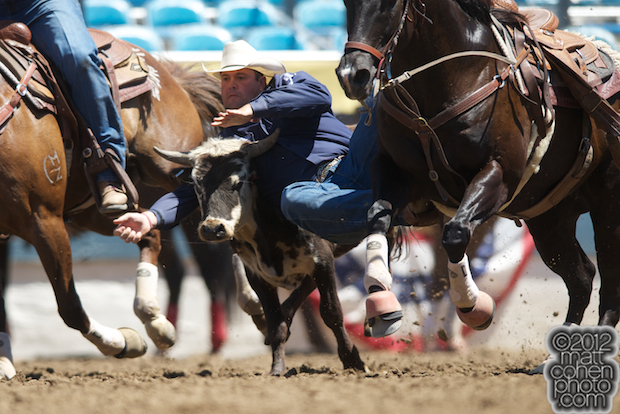 2012 Wrangler National Finals Rodeo Qualifiers: Steer Wrestling - Gabe Ledoux
