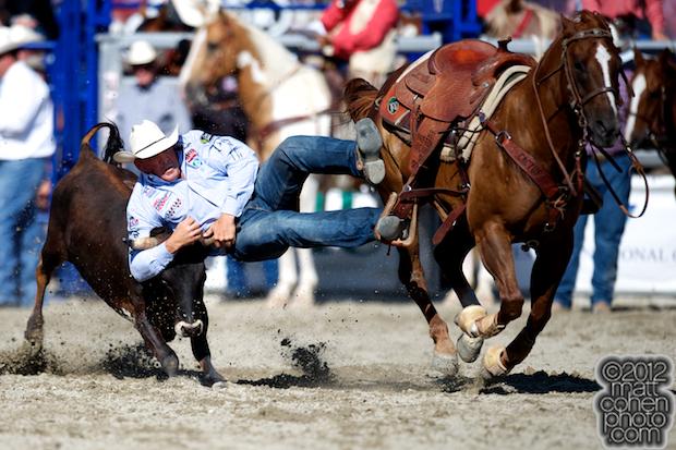 2012 Wrangler National Finals Rodeo Qualifiers: Steer Wrestling - K.C. Jones