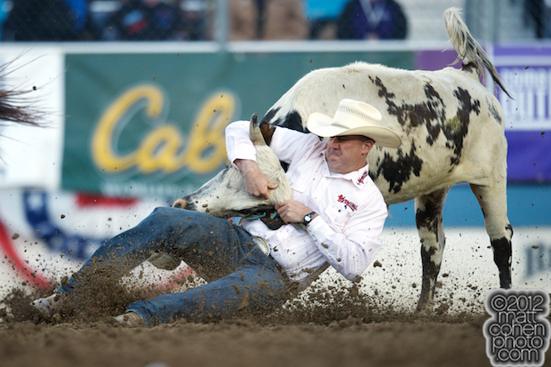 2012 Wrangler National Finals Rodeo Qualifiers: Steer Wrestling - Les Shepperson