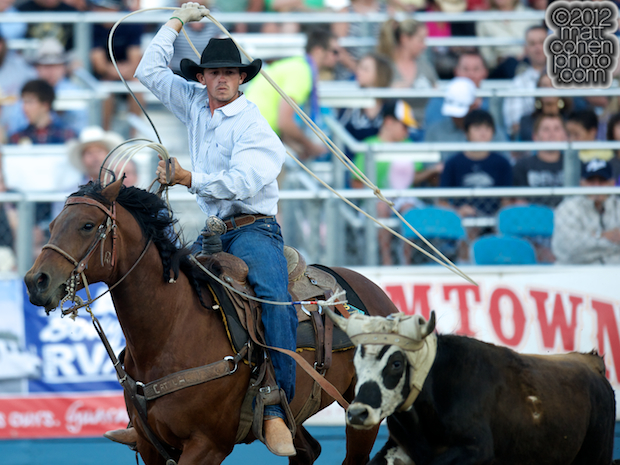 2012 Wrangler National Finals Rodeo Qualifiers: Team Roping - Russell Cardoza