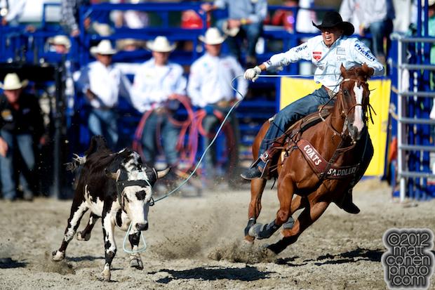 2012 Wrangler National Finals Rodeo Qualifiers: Team Roping - Derrick Begay