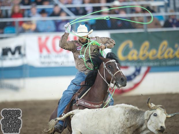2012 Wrangler National Finals Rodeo Qualifiers: Team Roping - Cesar de la Cruz