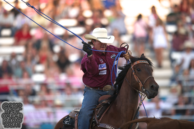 2012 Wrangler National Finals Rodeo Qualifiers: Team Roping - Jade Corkill