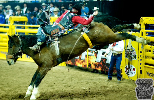 2012 National Finals Rodeo - Bareback Stock - PTSD Power Play of Andrews Rodeo