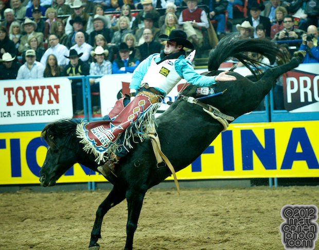 2012 National Finals Rodeo - Bareback Stock - Black Coffee of Carr Pro Rodeo.