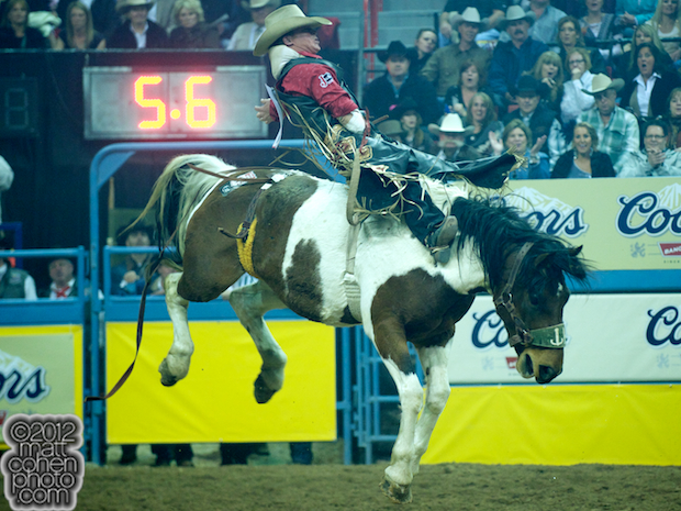 2012 National Finals Rodeo - Bareback Stock - Inky of Korkow Rodeos