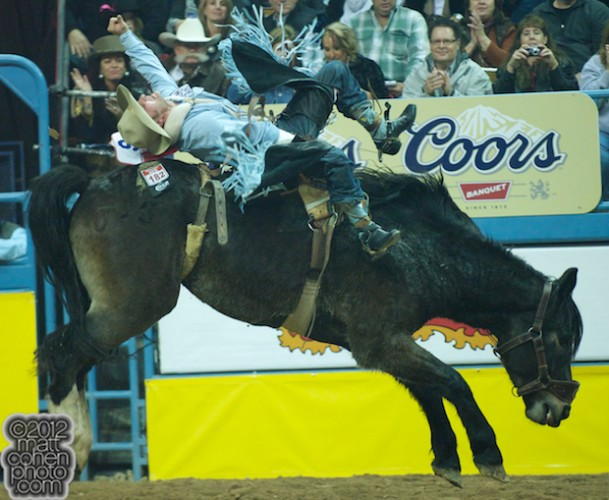 2012 National Finals Rodeo - Bareback Stock - Night Bells of Lancaster & Pickett