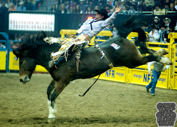 2012 National Finals Rodeo - Bareback Stock - Top Flight of Lancaster & Pickett