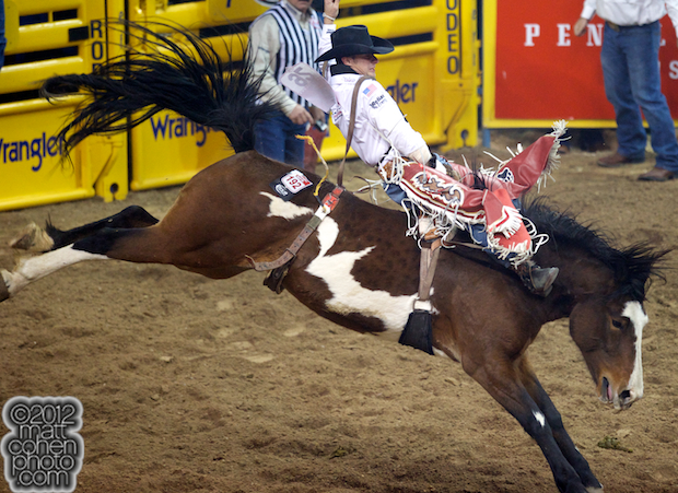2012 National Finals Rodeo - Bareback Stock - Hard Times of Southwick's Rocky Mountain