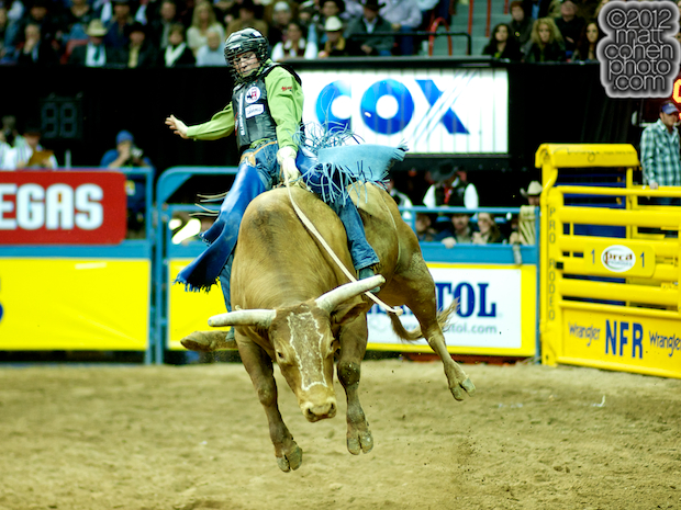 2012 National Finals Rodeo- Bull Riding Stock - Gangster of Five Star Rodeo