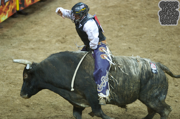 2012 National Finals Rodeo- Bull Riding Stock - Mission Accomplished of Four L & Diamond S Rodeo