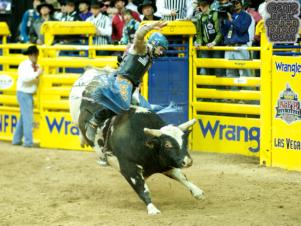 2012 National Finals Rodeo- Bull Riding Stock - Wicked Spot of Rafter H Rodeo Livestock