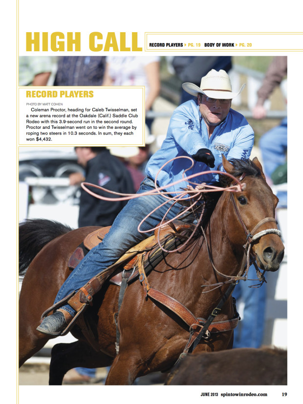 Spin to Win Rodeo - June 2013 - Coleman Proctor - High Call